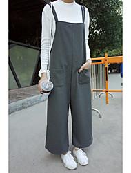 signe à l'automne et l'hiver 2016 pantalons robe vent institut shopping coréen jambe suspendu les femmes sauvages de bande passante
