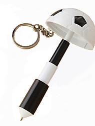 Multifunctional Football Modelling Plastic Keychain Cartoon Craft BallPoint Pen