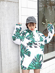 Nearby New College Wind hooded sun protection clothing loose casual jacket female digital printing