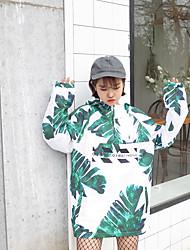 рядом новый колледж ветер с капюшоном ВС защиты одежды цифровой печати свободный вскользь куртка женская