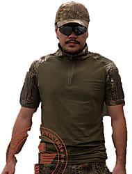 Homme Hauts/Tops Chasse Sport de détente Etanche Respirable Pare-vent Vestimentaire Printemps Eté Automne Olive