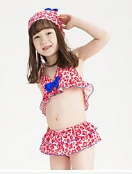 Girls' Dot Polka Dot Swimwear,Nylon