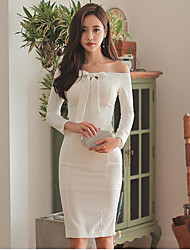 Sexy collar tied ribbon trumpet sleeves strapless dress bag hip skirt