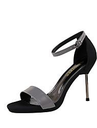 Damen-High Heels-Büro Kleid Party & Festivität-PU-Stöckelabsatz-Komfort-Weiß Schwarz Silber Grau Champagner