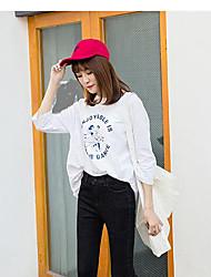 Feminino Simples Cintura Alta Com Elástico Chinos Calças,Reto Cor Única,Taxas