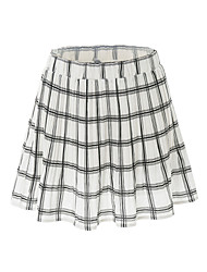 Women's Mid Rise Going out Casual/Daily Above Knee Skirts Street chic A Line Pleated Check Summer