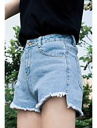 court en short long avant denim été femme verges en vrac gros burr était irrégulière mince mince short jambe large