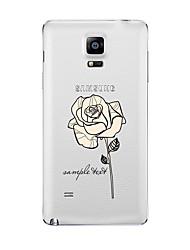 Pour Transparente Motif Coque Coque Arrière Coque Fleur Flexible PUT pour Samsung Note 5 Note 4 Note 3 Note 2