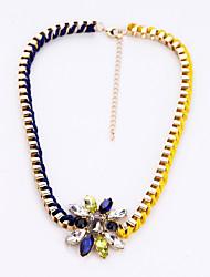 Women's Pendant Necklaces Flower Chrome Unique Design Bohemian Jewelry For Congratulations Thank You Gift 1pc