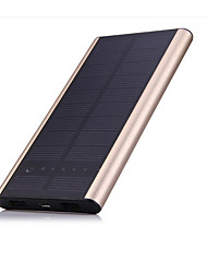SUNWALK 6000mAh Dual USB Thin&Aluminium Shell Solar Charger Power Bank External Battery for Cell Phone