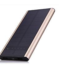 6000mAhmAhbanco do poder de bateria externa Recarga com Energia Solar Output Múltiplo 6000mAh 1000mA / 2100mARecarga com Energia Solar