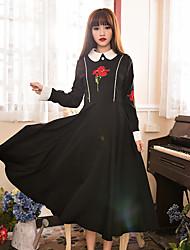Original high-end designer personalizado pouco preto vestido hepburn retro bordado vestido Europa