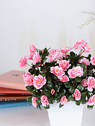 1 Branch Dried Flower Azalea Tabletop Flower Artificial Flowers
