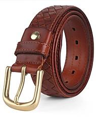 Masculino Casual Latão Velcro Cinto para a Cintura