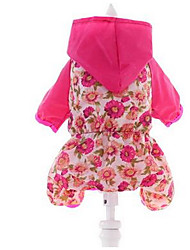 Dog Dress Dog Clothes Summer Flower Cute Casual/Daily Fuchsia