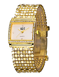 ASJ Women's Dress Watch Fashion Watch Bracelet Watch Simulated Diamond Watch Japanese Quartz Imitation Diamond Rhinestone Alloy Band