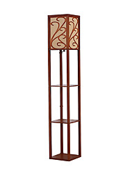 Nut-brown Floor Lamp for Multifunctional Goods Racks with on/off Switch