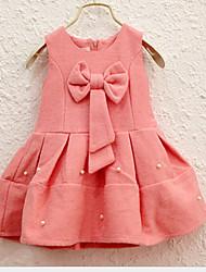 Girl's Casual/Daily Solid Dress,Bamboo Fiber Winter Sleeveless