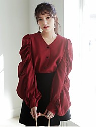 korea temperament ruffle blouse