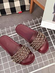 Women's Slippers & Flip-Flops Comfort Pigskin Casual Flat Heel