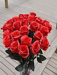 1 Ast Kunststoff Rosen Tisch-Blumen Künstliche Blumen 7*7*65