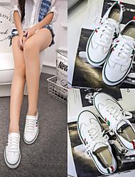 2017 Leder flache Schuhe weiße Schuhe koreanische Version von Casual Sneakers Schuhe