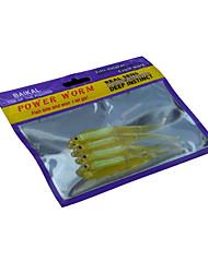 2 Stück Weiche Fischköder / Gummifische Zufällige Farben 12 g Unze mm Zoll,Kunststoff Angeln Allgemein