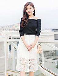 assinar pressão da moda coreana de renda plissada saias de cintura elástica grandes estaleiros saia de fadas tutu saia uma palavra