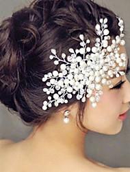 Crystal Headpiece-Wedding Special Occasion Casual Outdoor Headbands Flowers Wreaths Hair Clip Hair Stick Hair Tool 1 Piece