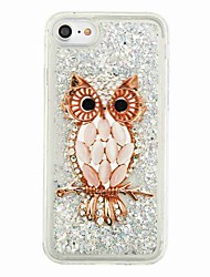 For iPhone X iPhone 8 Case Cover Flowing Liquid Pattern Back Cover Case Owl Glitter Shine Soft TPU for Apple iPhone X iPhone 8 Plus