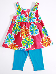 Baby Casual/Daily Print Clothing Set Summer