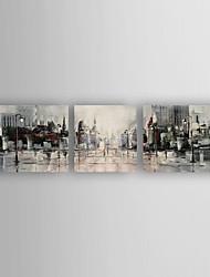 Peint à la main Paysages Abstraits Horizontale,Moderne Trois Panneaux Toile Peinture à l'huile Hang-peint For Décoration d'intérieur