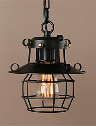 Vintage Retro Style Wrought Iron Small Iron Cage Pendant Lamp Sitting room Dining Room Bedroom Balcony Coffee Shop Bar