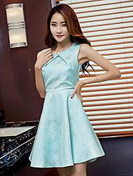 Vestido temperamento senhoras saia slim vestido sem mangas vestido de verão 2017 nova princesa presidida
