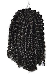1 Pack 8inch Brown Black Curly Afro Kinky Mali Bob Braids Hair Extensions Kanekalon Hair Braids 30g (5-6packs/head)