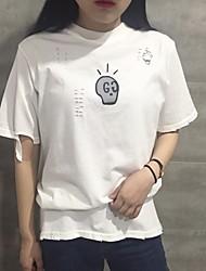 Véritable shot Institut coréen de vent trou en vrac Harajuku impression couverture à manches courtes t-shirt chemise étudiante étudiante