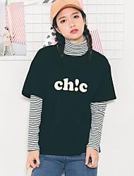 Signer des femmes&# 39; s 2017 printemps nouveau coton mode korean à manches courtes t-shirt chemise à manches courte lettre chic