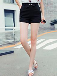 Signer une ceinture arrondie 2016 été nouvelle taille haute jean droit jean short short court korean