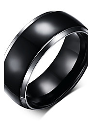 Mens Titanium Rings Black Men Engagement Wedding Rings Jewelry US Size 100% Titanium Carbide