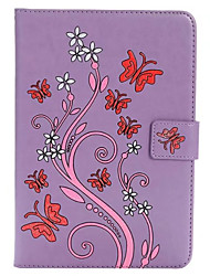 For Apple iPad Mini 4 3 2 1 Case Cover Card Holder with Stand Embossed Full Body Butterfly Hard PU Leather