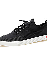 Running Shoes Men's Fashion Casual Shoes EU39-44 Hight-top Microfiber Board Flats Shoes Black/White