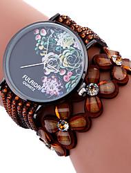 Модные часы Часы-браслет Кварцевый Материал Группа С подвесками Повседневная Креатив Cool Черный Белый Коричневый Роуз