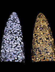 1PC The New Laser Hexagon Gold And Silver Sequins