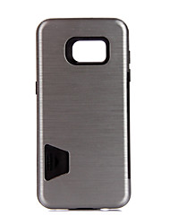 Pour Porte Carte Antichoc Coque Coque Arrière Coque Couleur Pleine Dur Métal pour Samsung S7 edge S7 S6