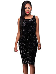 Women's Party Time Sequin Midi Bodycon Dress