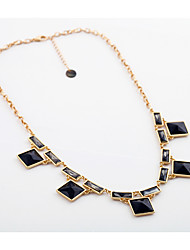 Women's Strands Necklaces Square Chrome Basic Jewelry For Gift Valentine