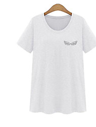 European Grand Prix angel wings hot drilling short-sleeved round neck T-shirt bottoming