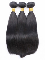 "3PCS/lot Brazilian Virgin Hair Straight 8""-32"" Brazilian Straight Virgin Hair Human Hair Weft Straight Hair Weaves"