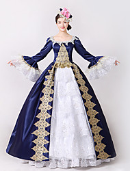 Steampunk®Marie Antoinette Masquerade Victorian Queen Ball Gown Wedding Dress Reenactment Rococo Ball Gown