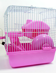 Rongeurs Chinchillas Cages Portable Cosplay Multifonction Métal Plastique Bleu Rose